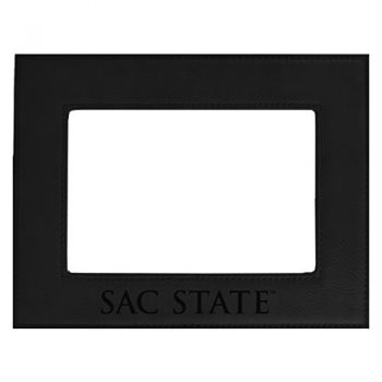 California State University-Velour Picture Frame 4x6-Black