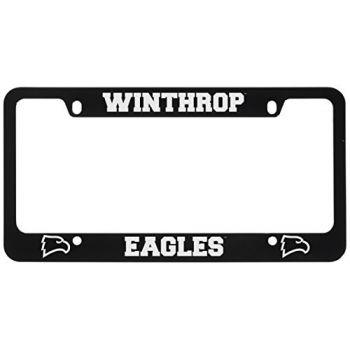 Winthrop University -Metal License Plate Frame-Black