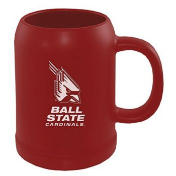 Ball State University -22 oz. Ceramic Stein Coffee Mug-Red