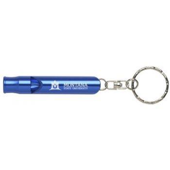 Montana State University - Whistle Key Tag - Blue