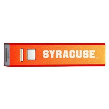 Syracuse University - Portable Cell Phone 2600 mAh Power Bank Charger - Orange