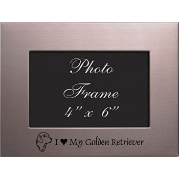4 x 6  Metal Picture Frame  - I Love My Golden Retriever
