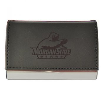 Velour Business Cardholder-Morgan State University-Black