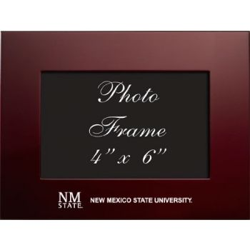 New Mexico State University - 4x6 Brushed Metal Picture Frame - Burgandy