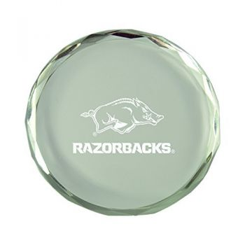 University of Arkansas-Crystal Paper Weight