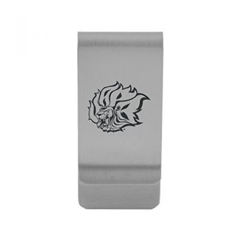 University of Arkansas at Pine Buff Money Clip with Contemporary Metals Finish Solid Brass High Tension Clip to Securely Hold Cash, Cards and ID's Gold