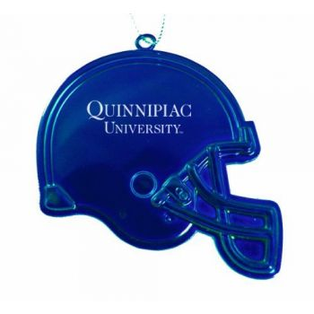 Quinnipiac University - Christmas Holiday Football Helmet Ornament - Blue