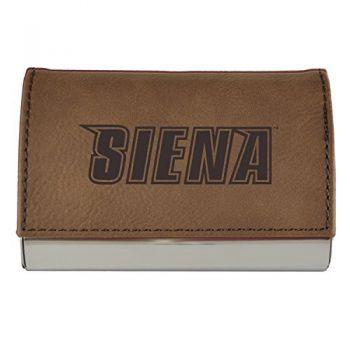Velour Business Cardholder-Siena College-Brown