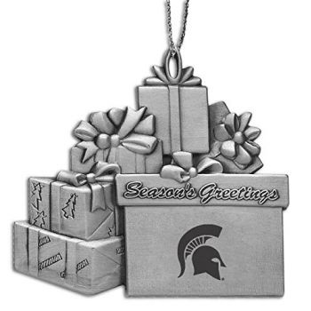 Michigan State University - Pewter Gift Package Ornament
