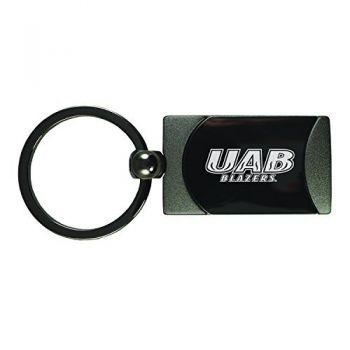 University of Alabama at Birmingham -Two-Toned Gun Metal Key Tag-Gunmetal