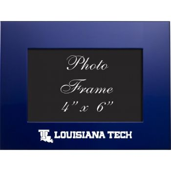 Louisiana Tech University - 4x6 Brushed Metal Picture Frame - Blue
