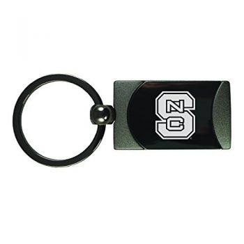 North Carolina State University -Two-Toned Gun Metal Key Tag-Gunmetal