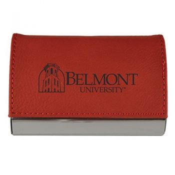 Velour Business Cardholder-Belmont University-RED