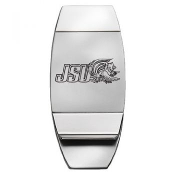 Jacksonville State University - Two-Toned Money Clip - Silver