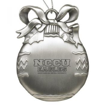 North Carolina Central University - Pewter Christmas Tree Ornament - Silver