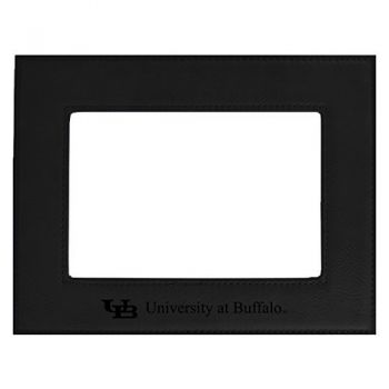 University at Buffalo-The State University of New York-Velour Picture Frame 4x6-Black