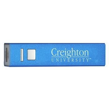 Creighton University - Portable Cell Phone 2600 mAh Power Bank Charger - Blue