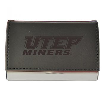 Velour Business Cardholder-The University of Texas at El Paso-Black