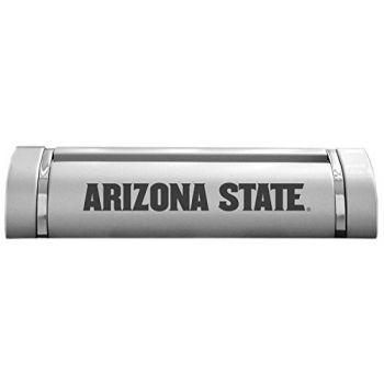 ASU Sun Devils-Desk Business Card Holder -Silver