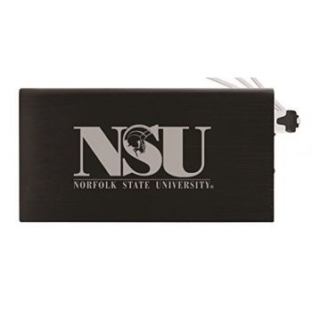 8000 mAh Portable Cell Phone Charger-Norfolk State University -Black