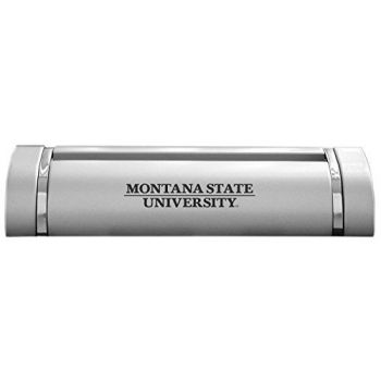 Montana State University-Desk Business Card Holder -Silver