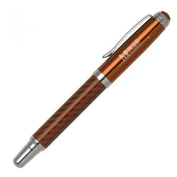 Mercer University - Carbon Fiber Rollerball Pen - Orange