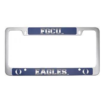 Florida Gulf Coast University -Metal License Plate Frame-Blue