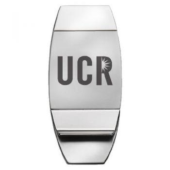 University of California, Riverside - Two-Toned Money Clip - Silver