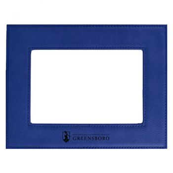 University of North Carolina at Greensboro-Velour Picture Frame 4x6-Blue