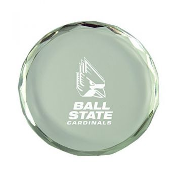 Ball State University-Crystal Paper Weight