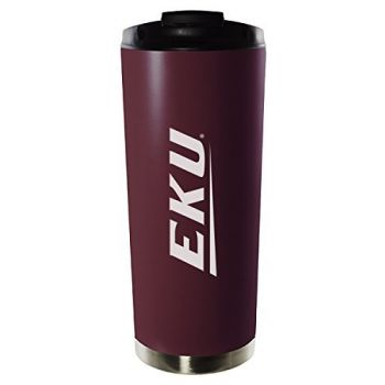 Eastern Kentucky University-16oz. Stainless Steel Vacuum Insulated Travel Mug Tumbler-Burgundy