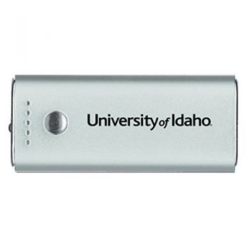 University of Idaho -Portable Cell Phone 5200 mAh Power Bank Charger -Silver