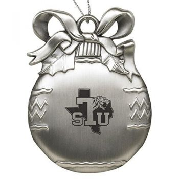 Texas Southern University - Pewter Christmas Tree Ornament - Silver