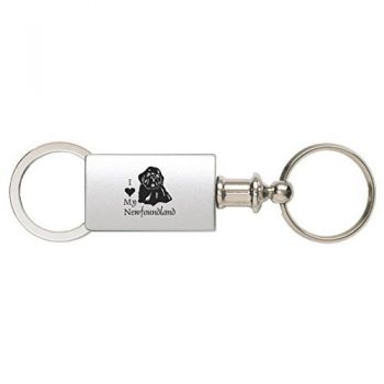 Detachable Valet Keychain Fob  - I Love My Newfoundland Dog