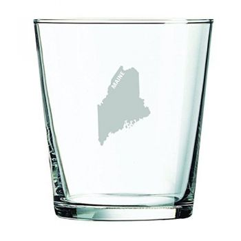 13 oz Cocktail Glass - Maine State Outline - Maine State Outline