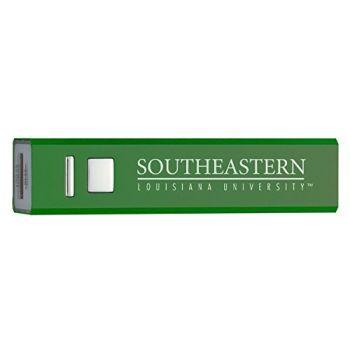 Southeastern Louisiana University - Portable Cell Phone 2600 mAh Power Bank Charger - Green