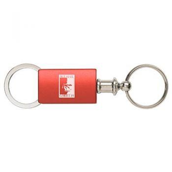 Pittsburg State University - Anodized Aluminum Valet Key Tag - Red