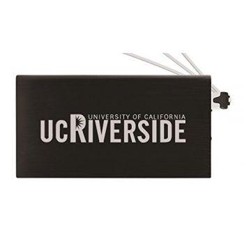 8000 mAh Portable Cell Phone Charger-University of California, Riverside-Black