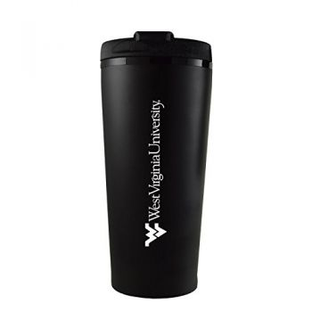 West Virginia University -16 oz. Travel Mug Tumbler-Black