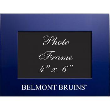 Belmont University - 4x6 Brushed Metal Picture Frame - Blue