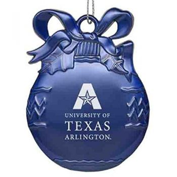 University of Texas at Arlington - Pewter Christmas Tree Ornament - Blue