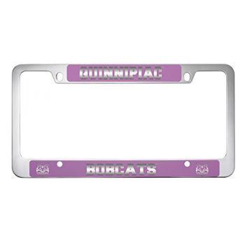 Quinnipiac University -Metal License Plate Frame-Pink