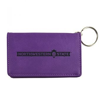 Velour ID Holder-Northwestern State University-Purple