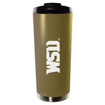 Wright State University-16oz. Stainless Steel Vacuum Insulated Travel Mug Tumbler-Gold