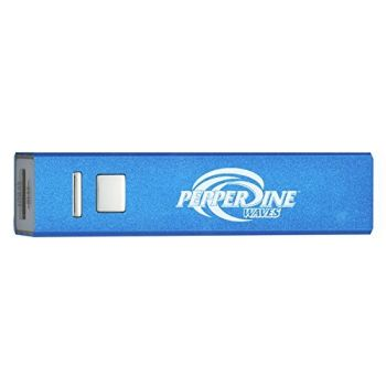Pepperdine University - Portable Cell Phone 2600 mAh Power Bank Charger - Blue