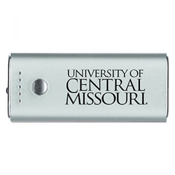 University of Central Missouri -Portable Cell Phone 5200 mAh Power Bank Charger -Silver