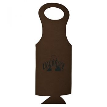 University of Albany-Velour Wine Tote-Brown