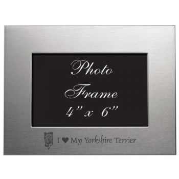 4 x 6  Metal Picture Frame  - I Love My Yorkie