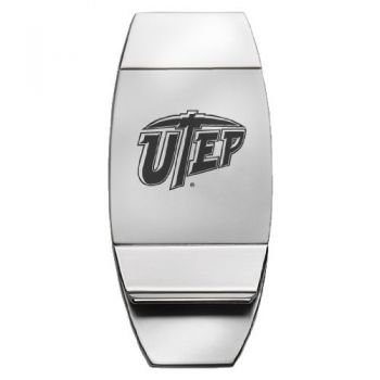 University of Texas at El Paso - Two-Toned Money Clip - Silver