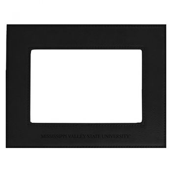 Mississippi Valley State University-Velour Picture Frame 4x6-Black